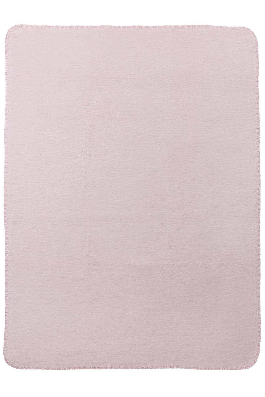 Wiegdeken Double Face - Roze/Grijs - 75x100cm