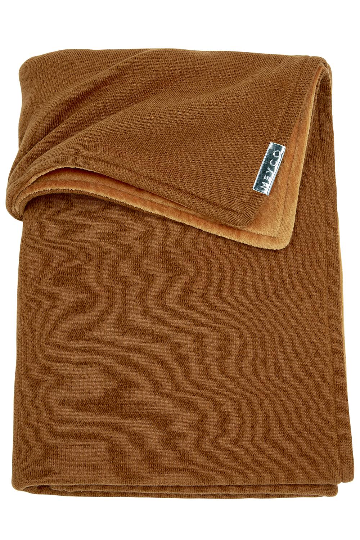 Wiegdeken Velvet Knit Basic - Camel - 75x100cm