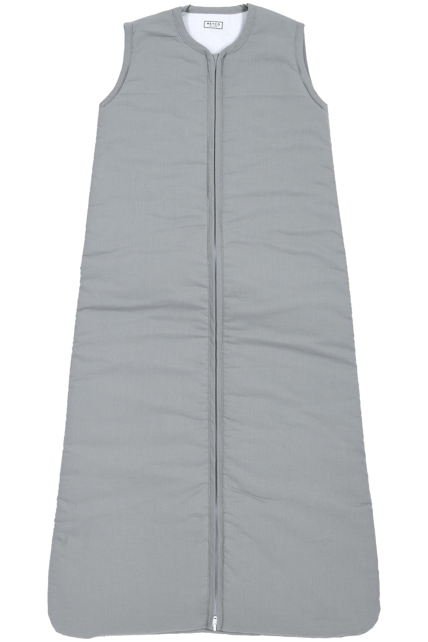 Schlafsack Gefüttert  Uni - Grau- 90cm