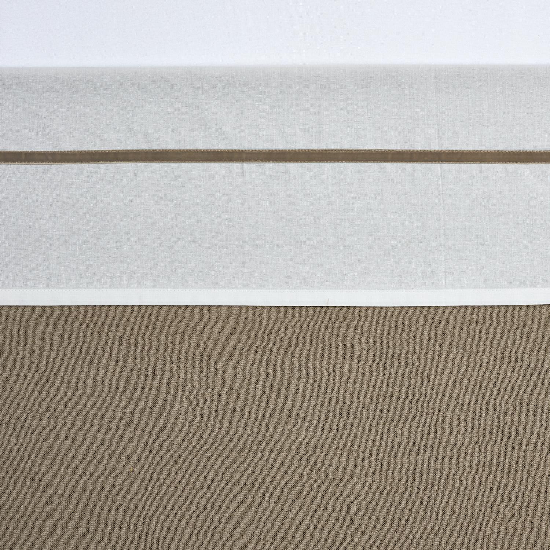 Bettlaken groß Bies Velvet - Taupe - 100x150cm