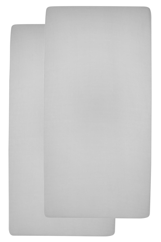 Jersey Hoeslaken 2-Pack - Lichtgrijs - 60x120cm