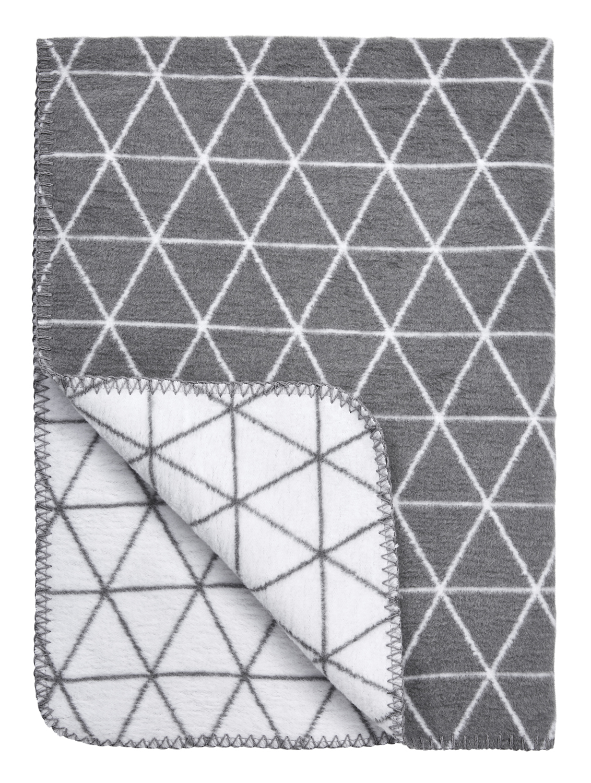 Wiegdeken Triangle - Grijs - 75x100cm