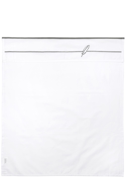 Ledikantlaken Feathers - Grijs - 100x150cm