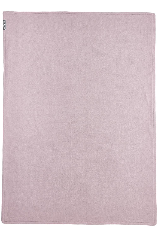 Wiegdeken Velvet Knit Basic - Lilac - 75x100cm