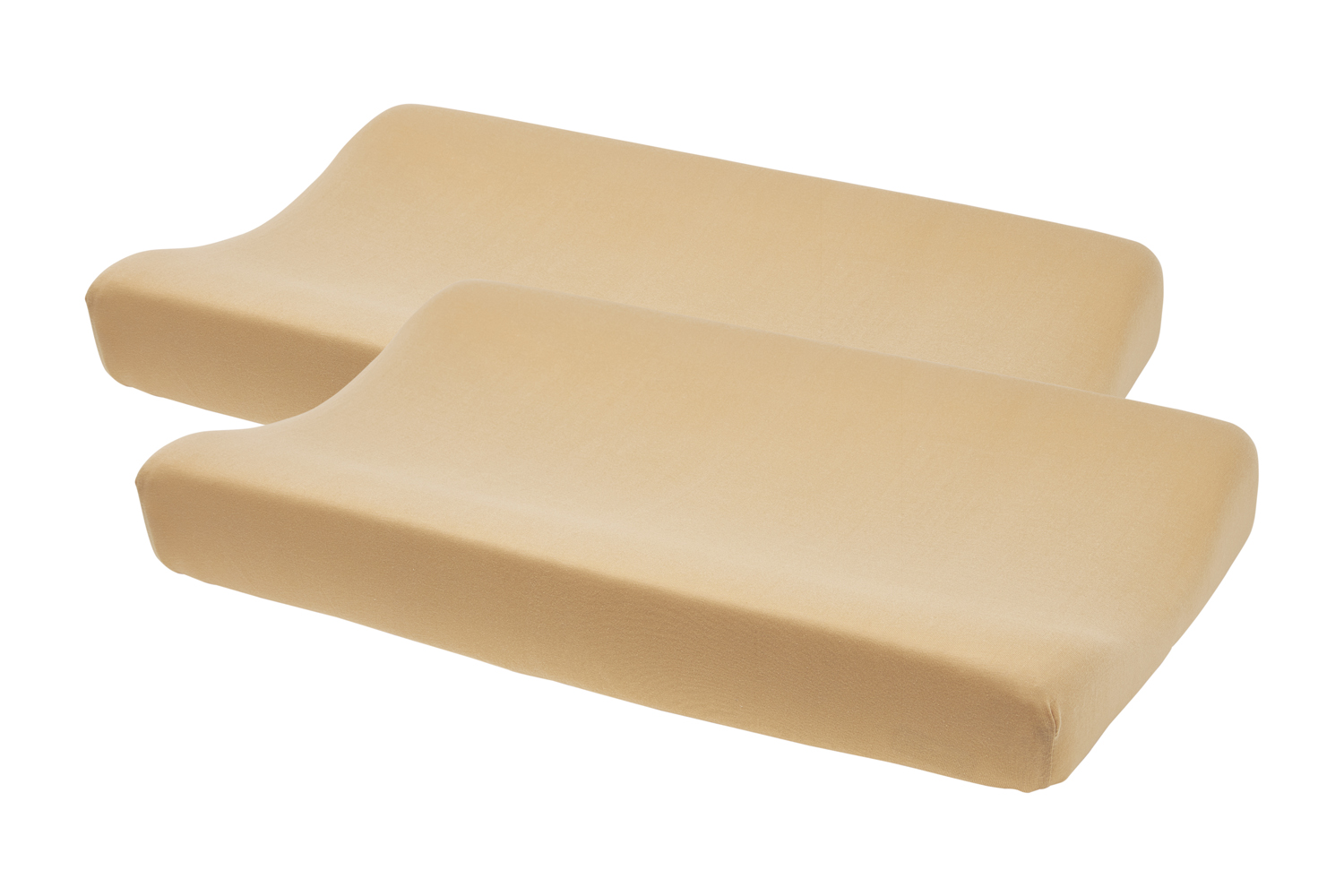 Aankleedkussenhoes Basic Jersey 2-Pack - Warm Sand - 50x70cm