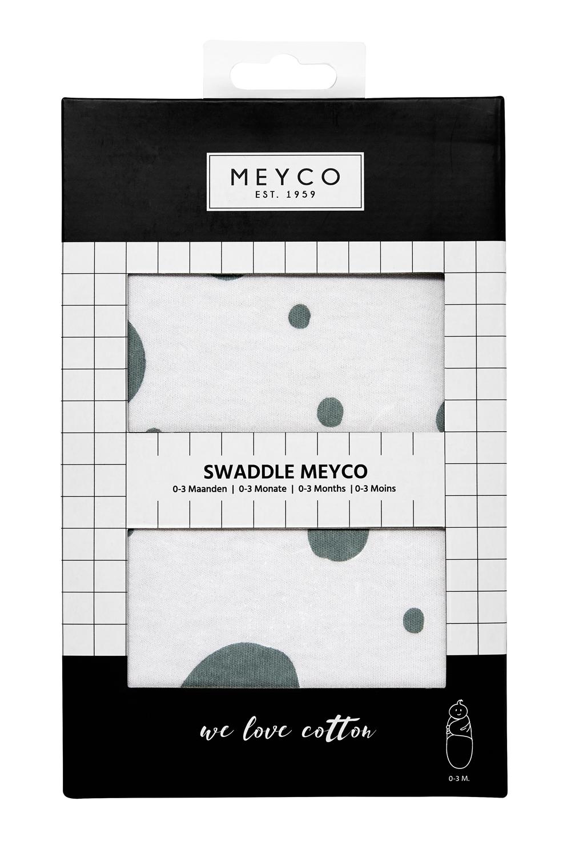 SwaddleMeyco Dots - Stone Green - 4-6 Maand