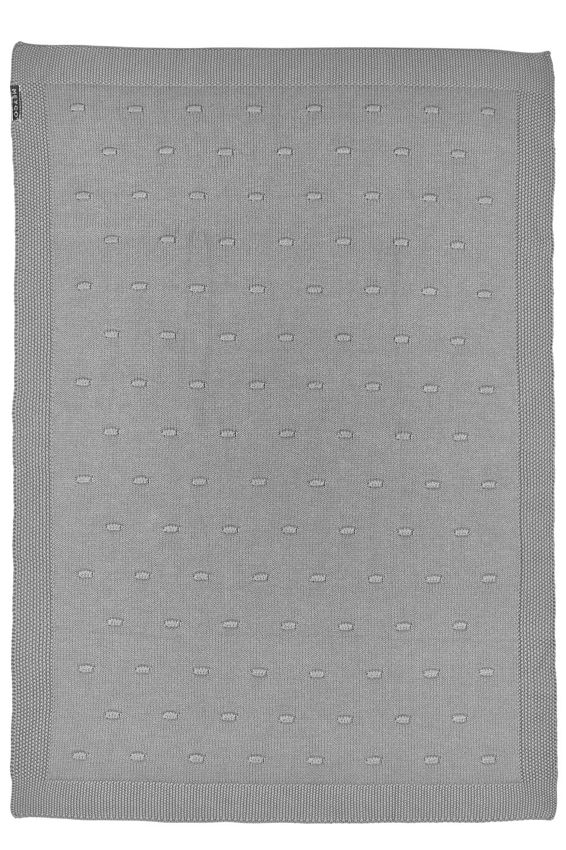 Ledikantdeken Knots - Grijs - 100x150cm