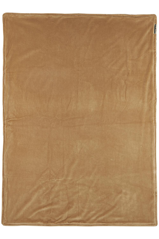 Wiegdeken Velvet Panter - Camel - 75x100cm