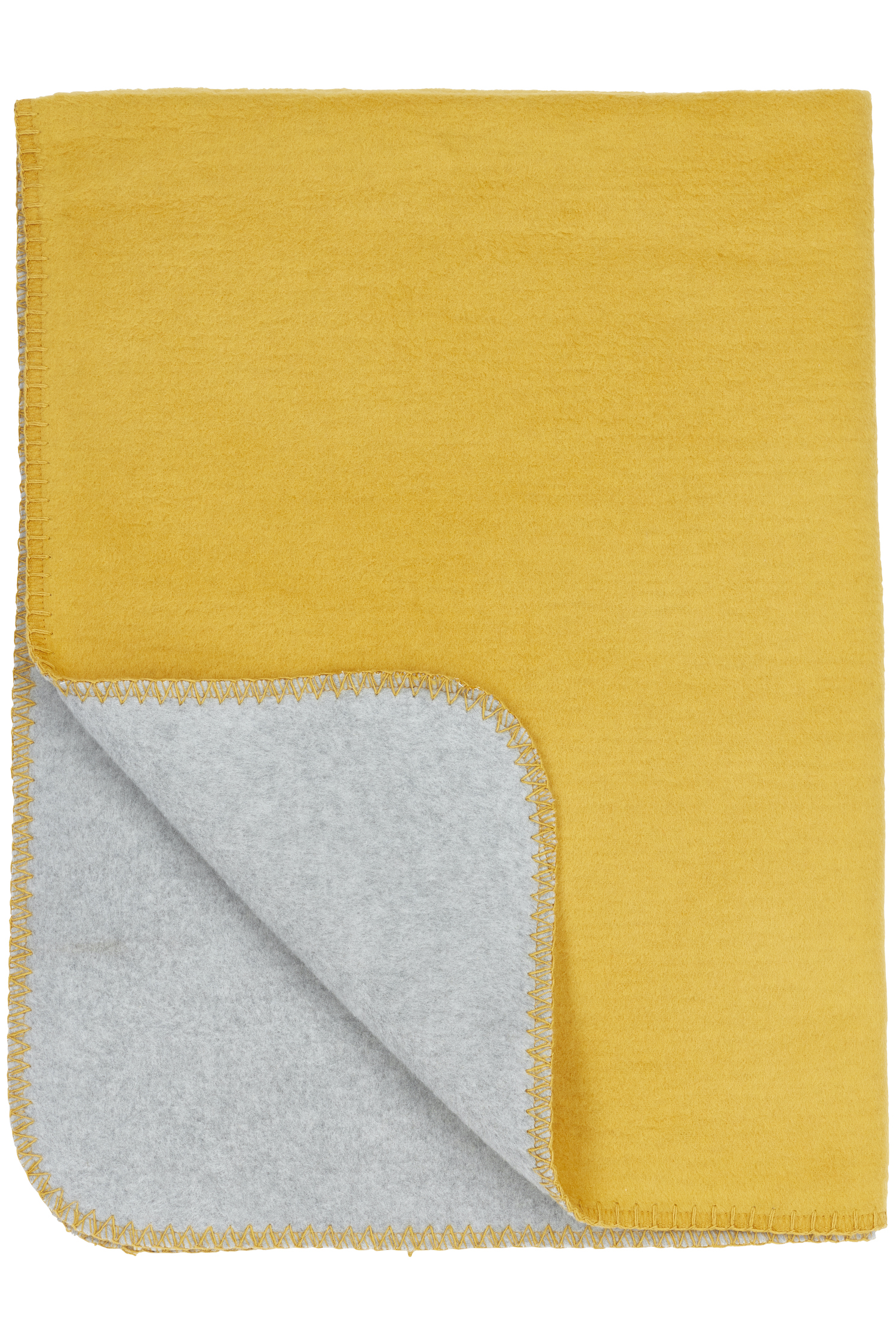 Babydecke klein Zweifarbig - Honey Gold/Grau melange - 75x100cm