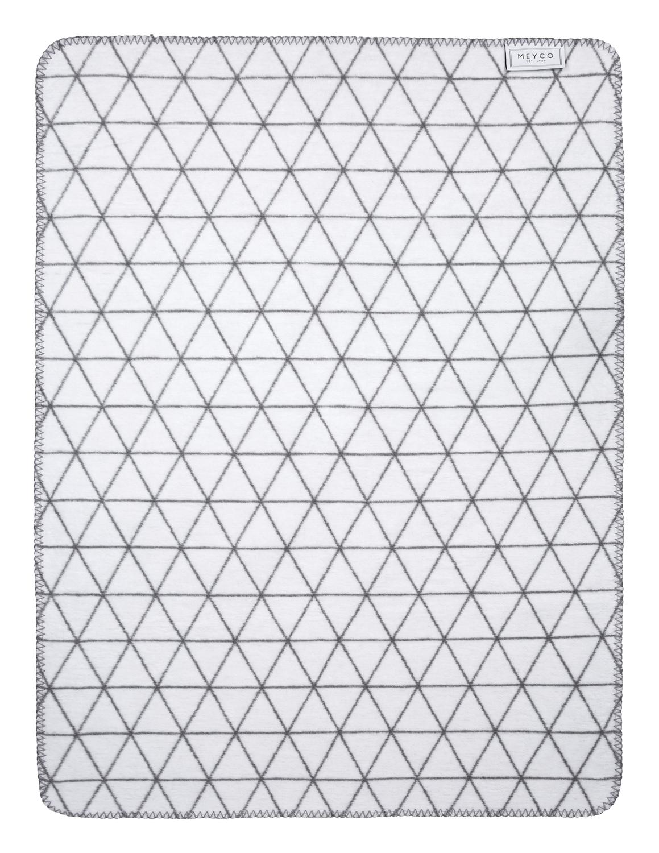 Ledikantdeken Triangle - Grijs - 120x150cm