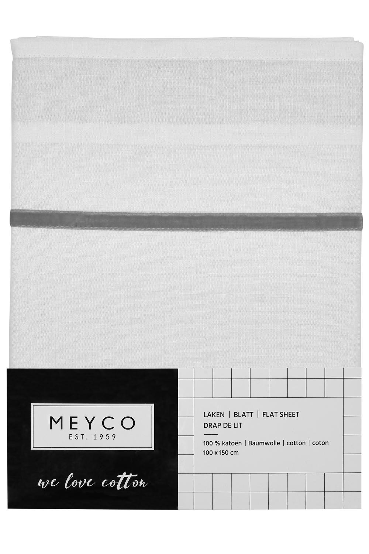 Wieglaken Bies Velvet - Grijs - 75x100cm