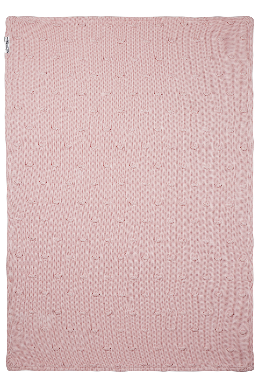 Wiegdeken Velvet Knots - Roze - 75x100cm