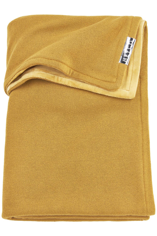 Ledikantdeken Velvet Knit Basic - Honey Gold - 100x150cm