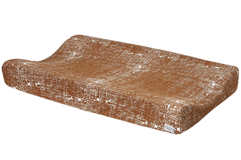 Aankleedkussenhoes Fine Lines - Camel - 50x70cm
