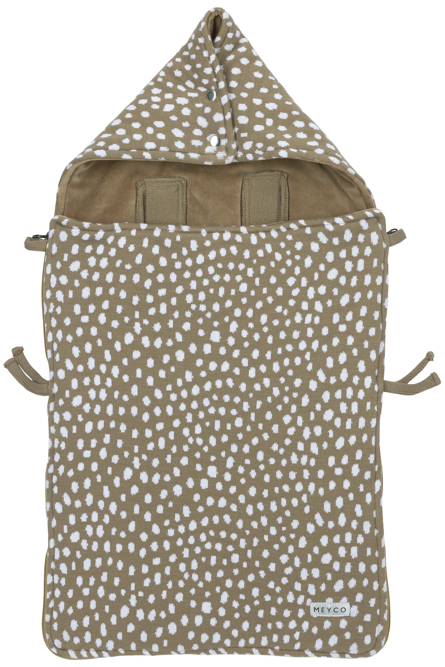 Fußsack Cheetah - Taupe - 40x82cm