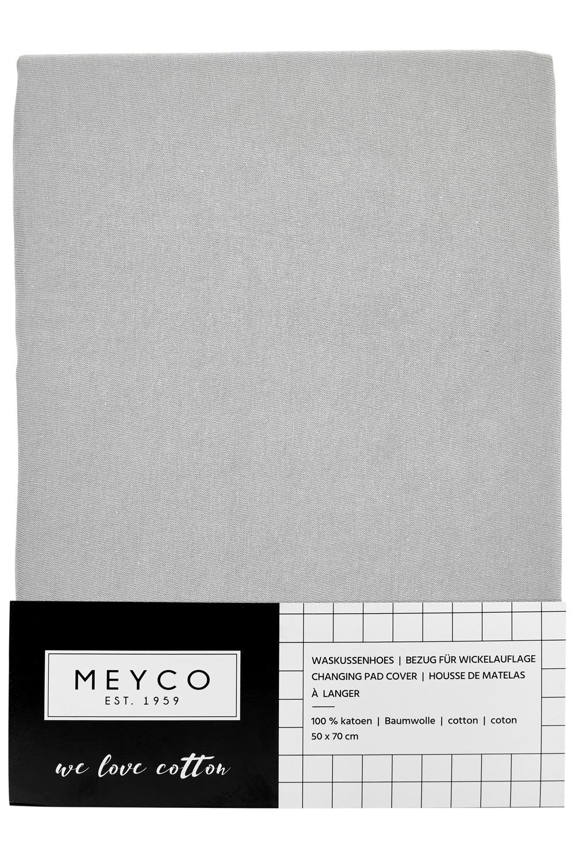 Aankleedkussenhoes Basic Jersey - Lichtgrijs - 50x70cm