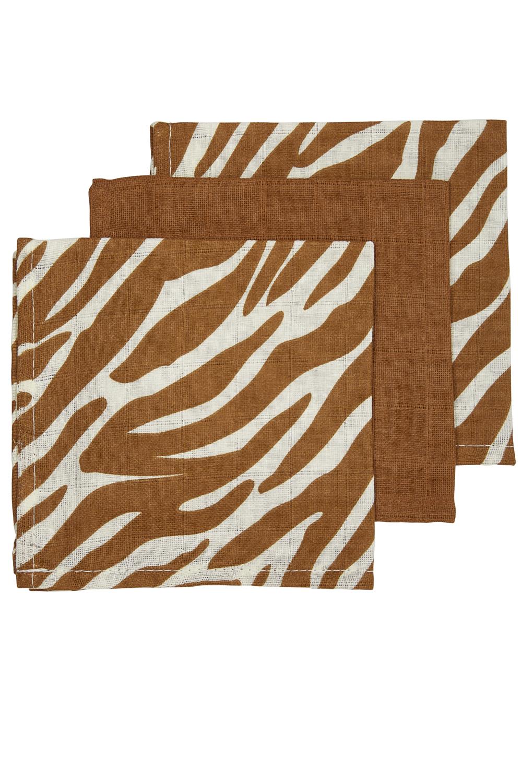 Hydrofiele Monddoekjes 3-Pack Zebra - Zebra/Camel/Zebra - 30x30cm
