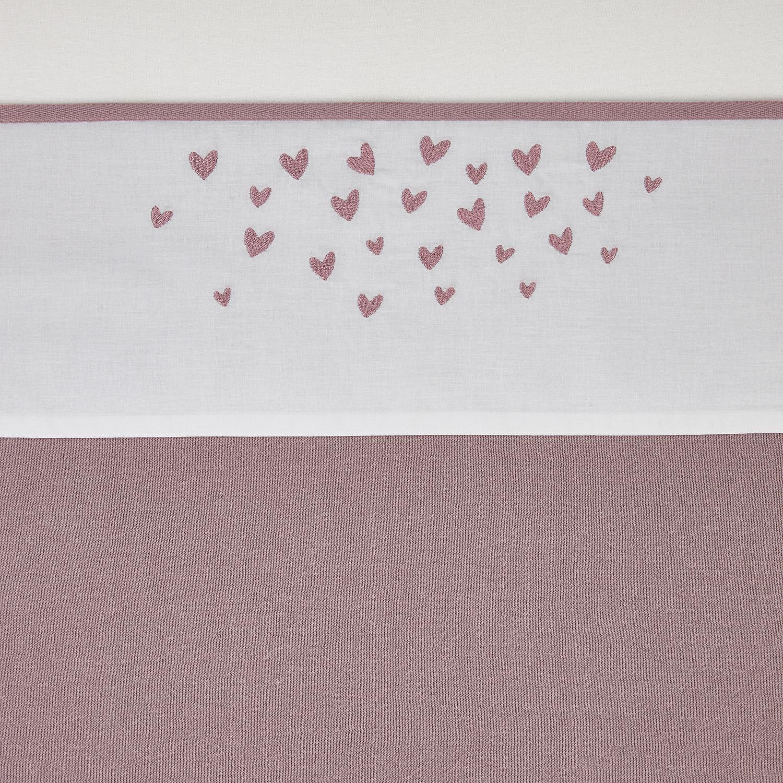 Wieglaken Hearts - Lilac - 75x100cm