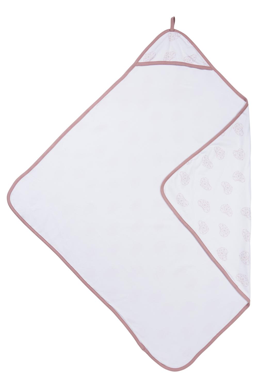 Badcape Geometric Heart - Oudroze - 90x90 cm