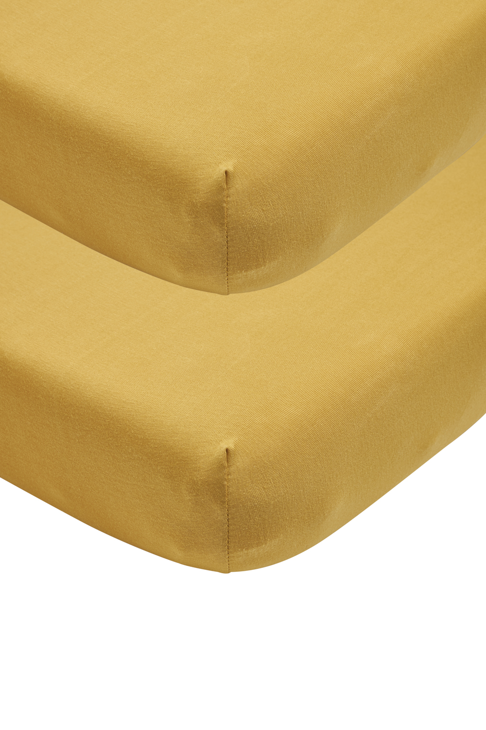 Jersey Hoeslaken 2-pack - Honey Gold - 40x80/90cm