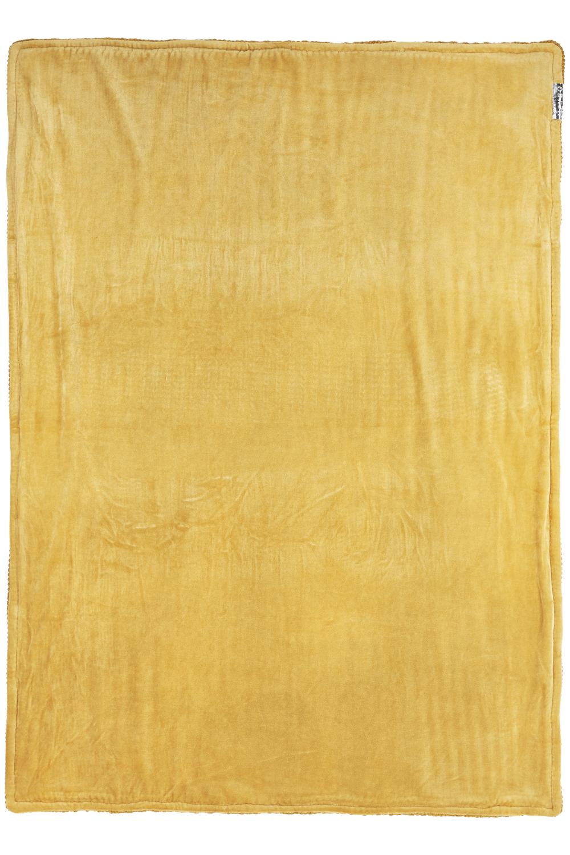 Ledikantdeken Velvet Herringbone - Honey Gold - 100x150cm