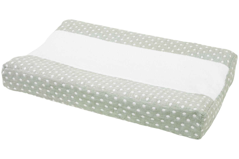 Wickelauflagenbezug Little Dots - Forest Green - 50x70cm