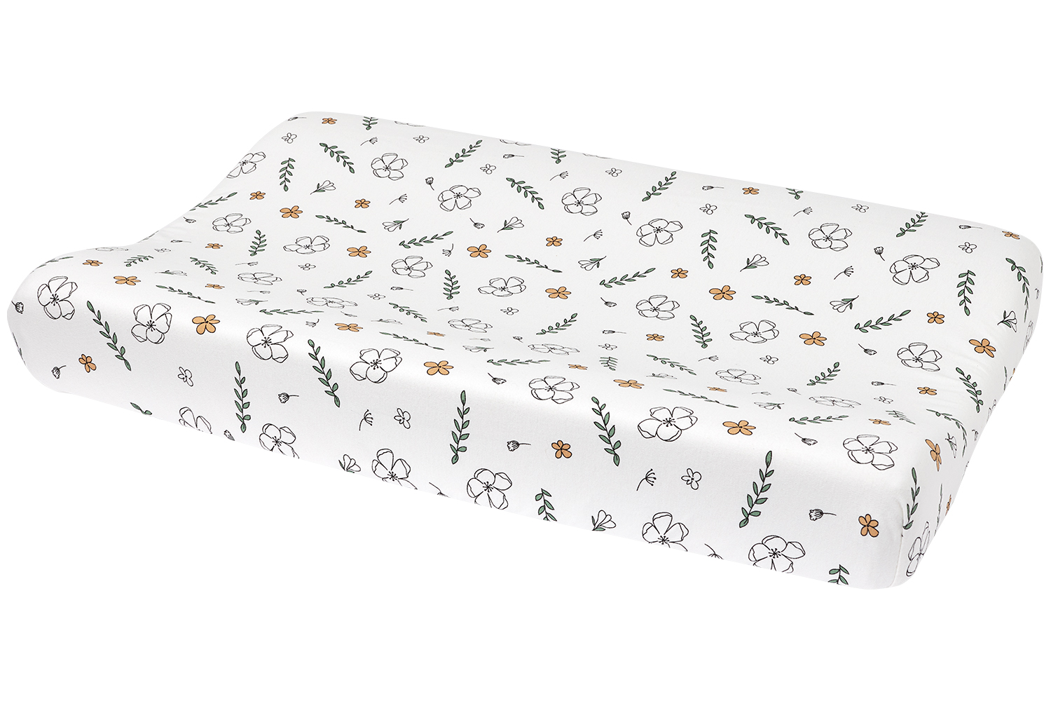 Biological changing pad cover Floral - 50x70 cm