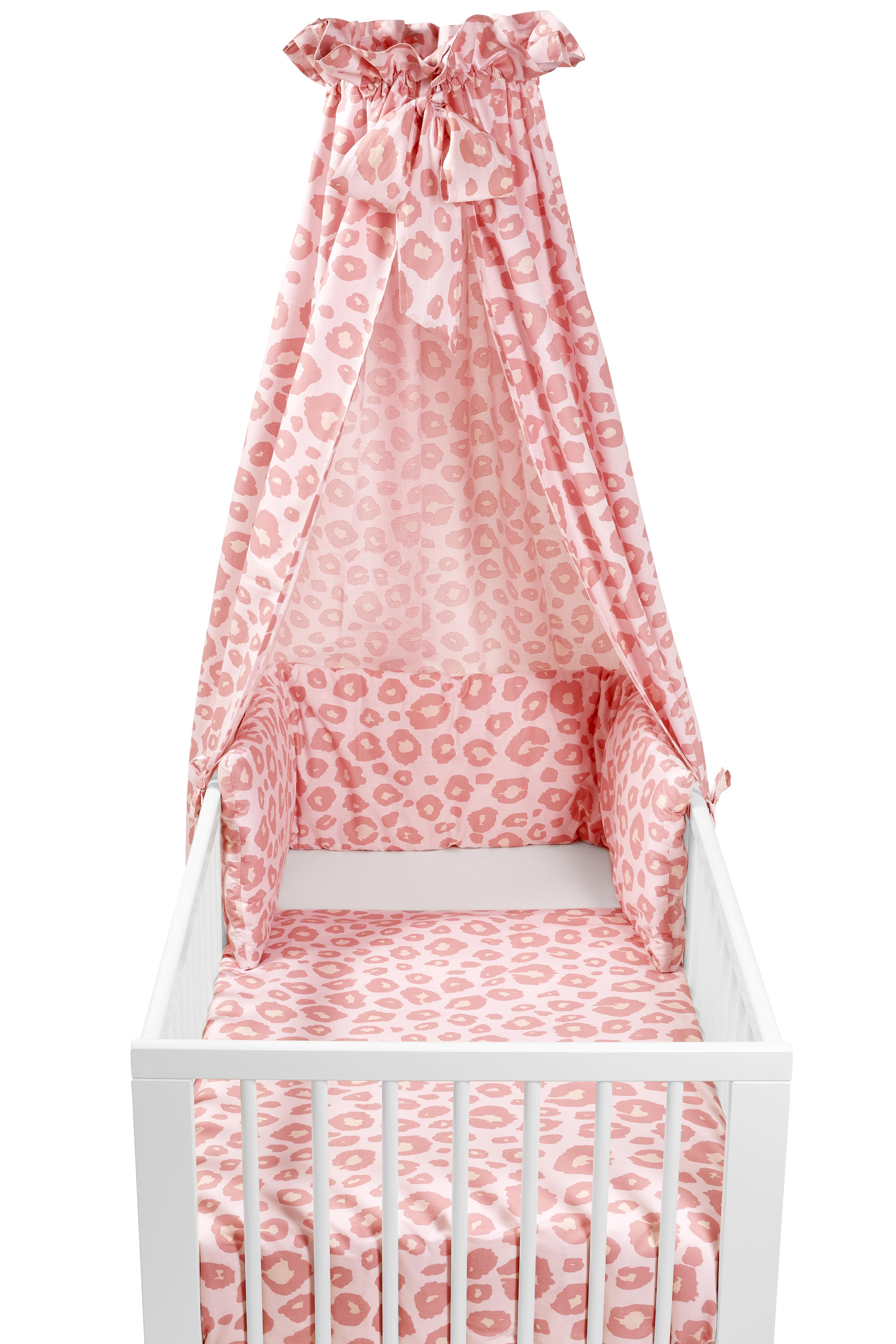 Babyset 4-Delige Ledikant Panter - Panter Pink - 100x135cm