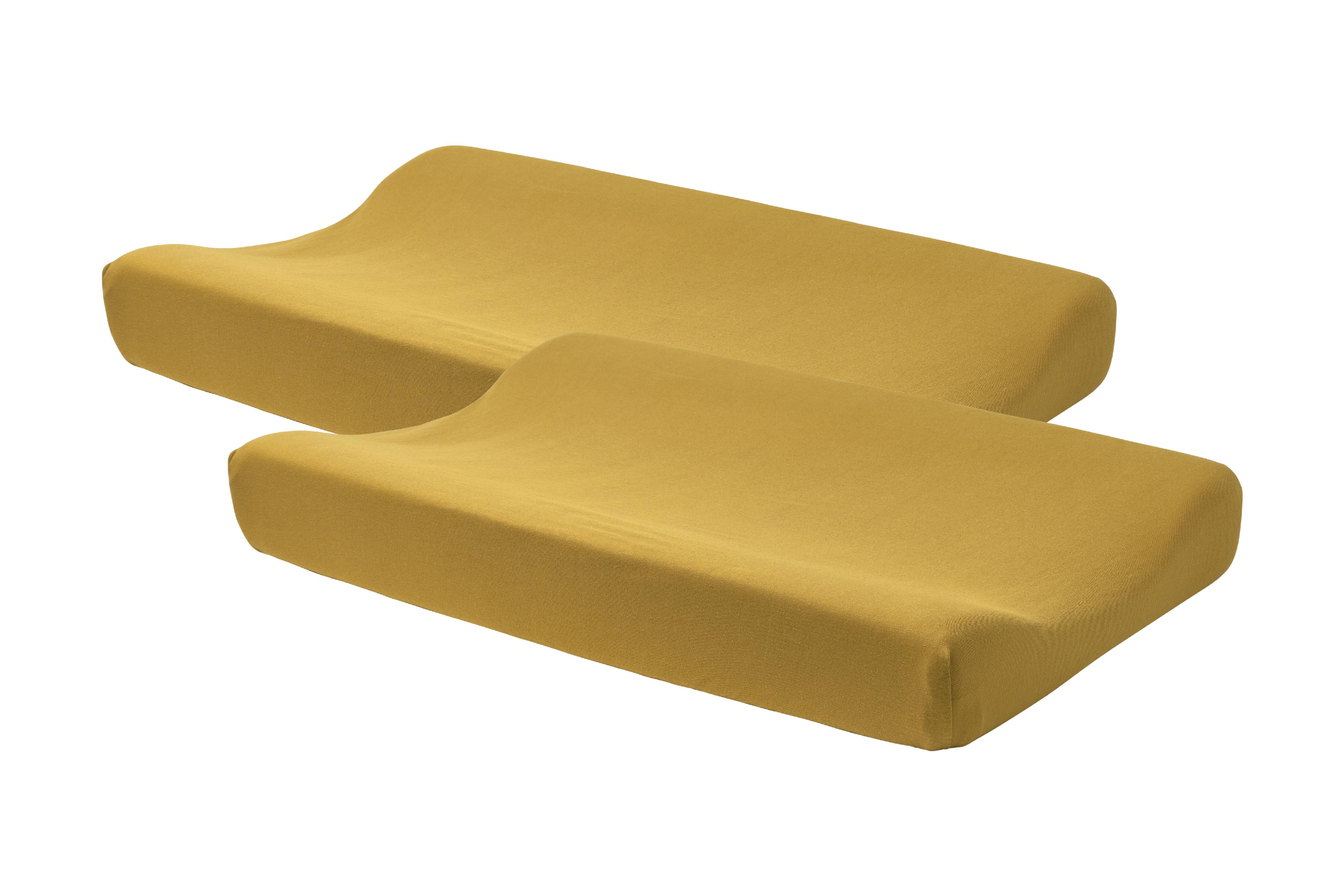 Wickelauflagenbezug Basic Jersey 2-Pack - Honey Gold - 50x70cm