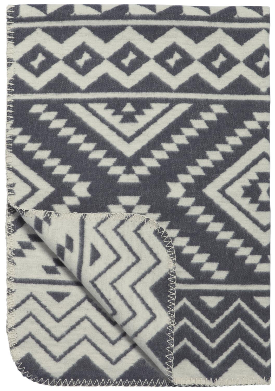 Ledikantdeken Ethnic - Grijs - 120x150cm