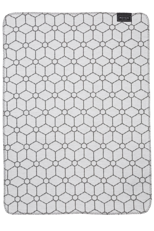 Biologische Flanel Wiegdeken Honeycomb - Grijs - 75x100cm