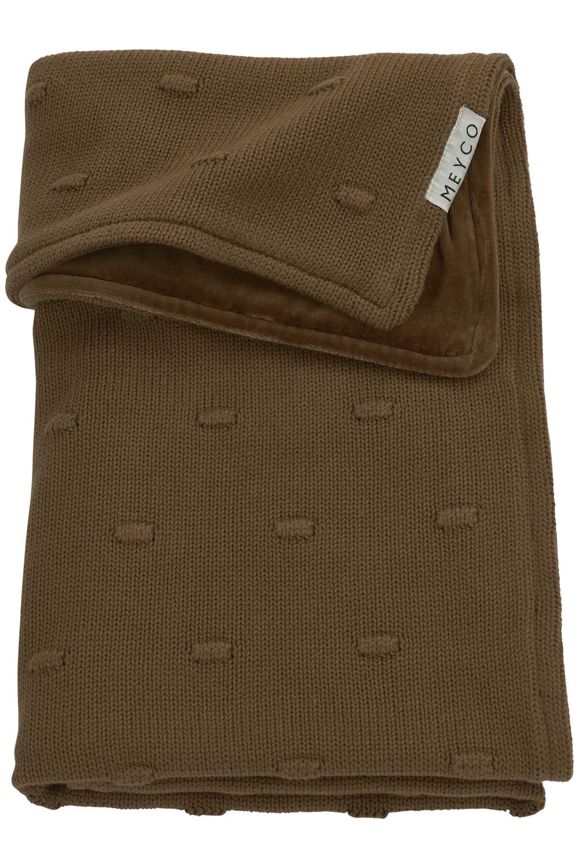 Babydecke groß Velvet Knots - Chocolate - 100x150cm