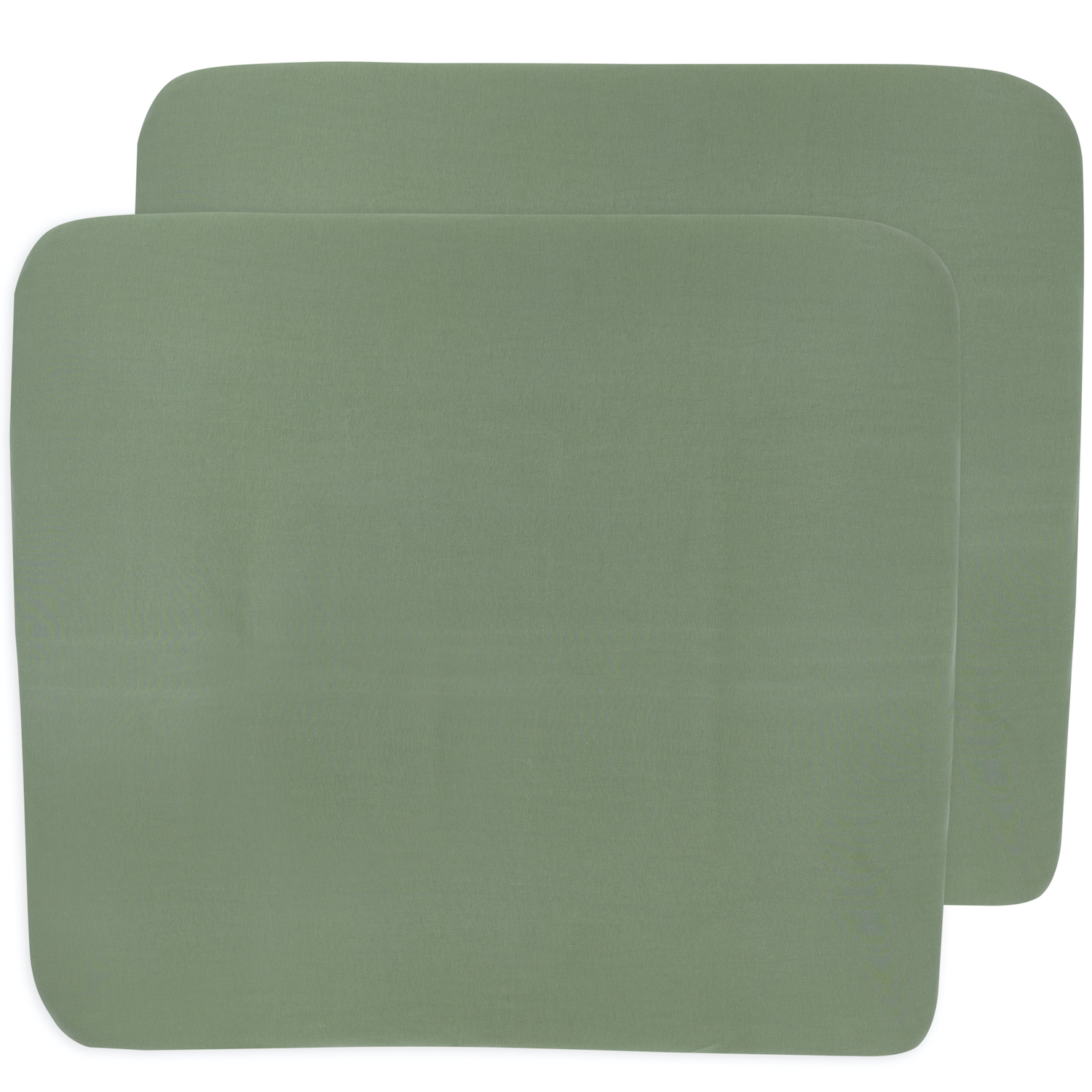 Aankleedkussenhoes 3K 2-pack Basic Jersey - Forest Green - 85x75cm