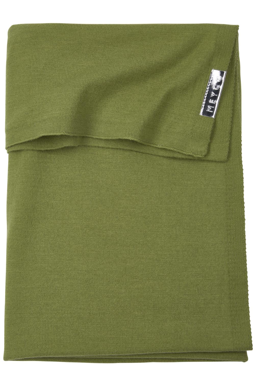 Wiegdeken Knit Basic - Avocado - 75x100cm