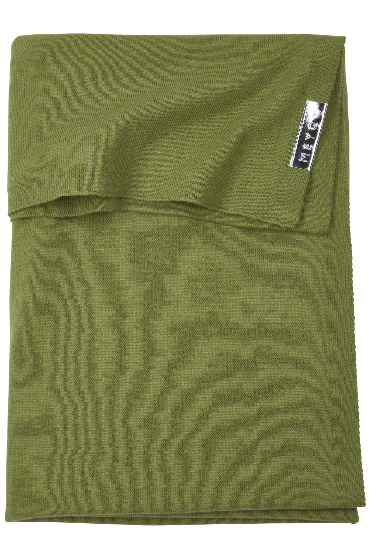 Babydecke klein Knit Basic - Avocado - 75x100cm