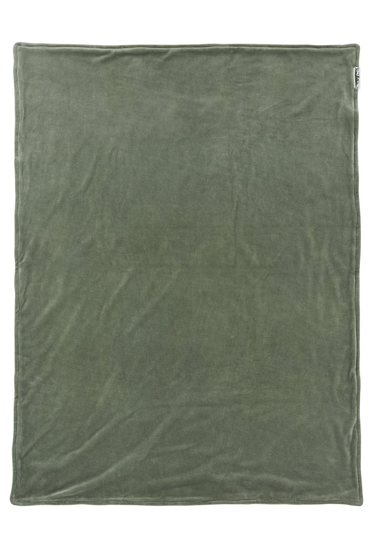 Wiegdeken Velvet Knit Basic - Forest Green - 75x100cm
