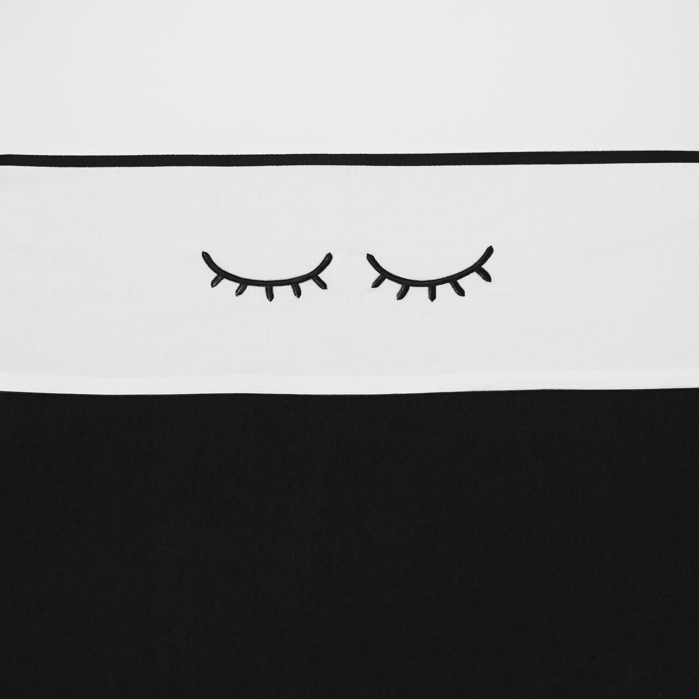 Wieglaken Sleepy Eyes - Zwart - 75x100cm