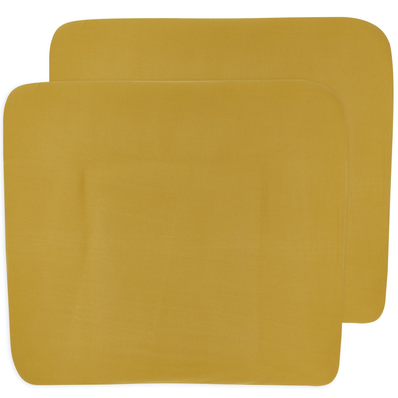 Aankleedkussenhoes 3K 2-pack Basic Jersey - Honey Gold - 85x75cm