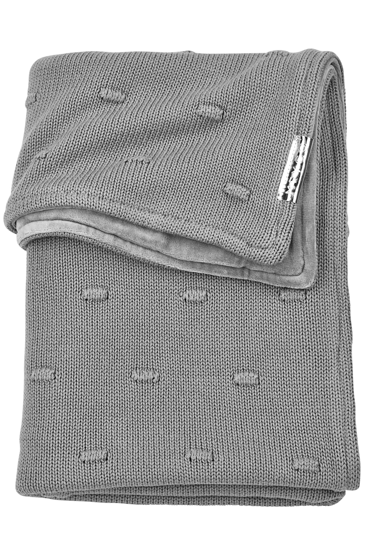 Babydecke klein Velvet Knots - Grau - 75x100cm