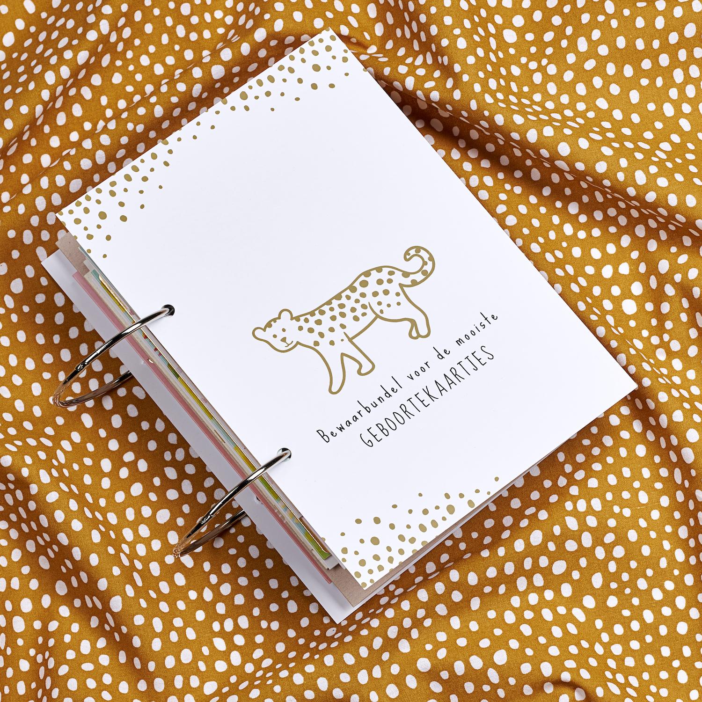 Geboortekaartjesbundel Cheetah - Honey Gold