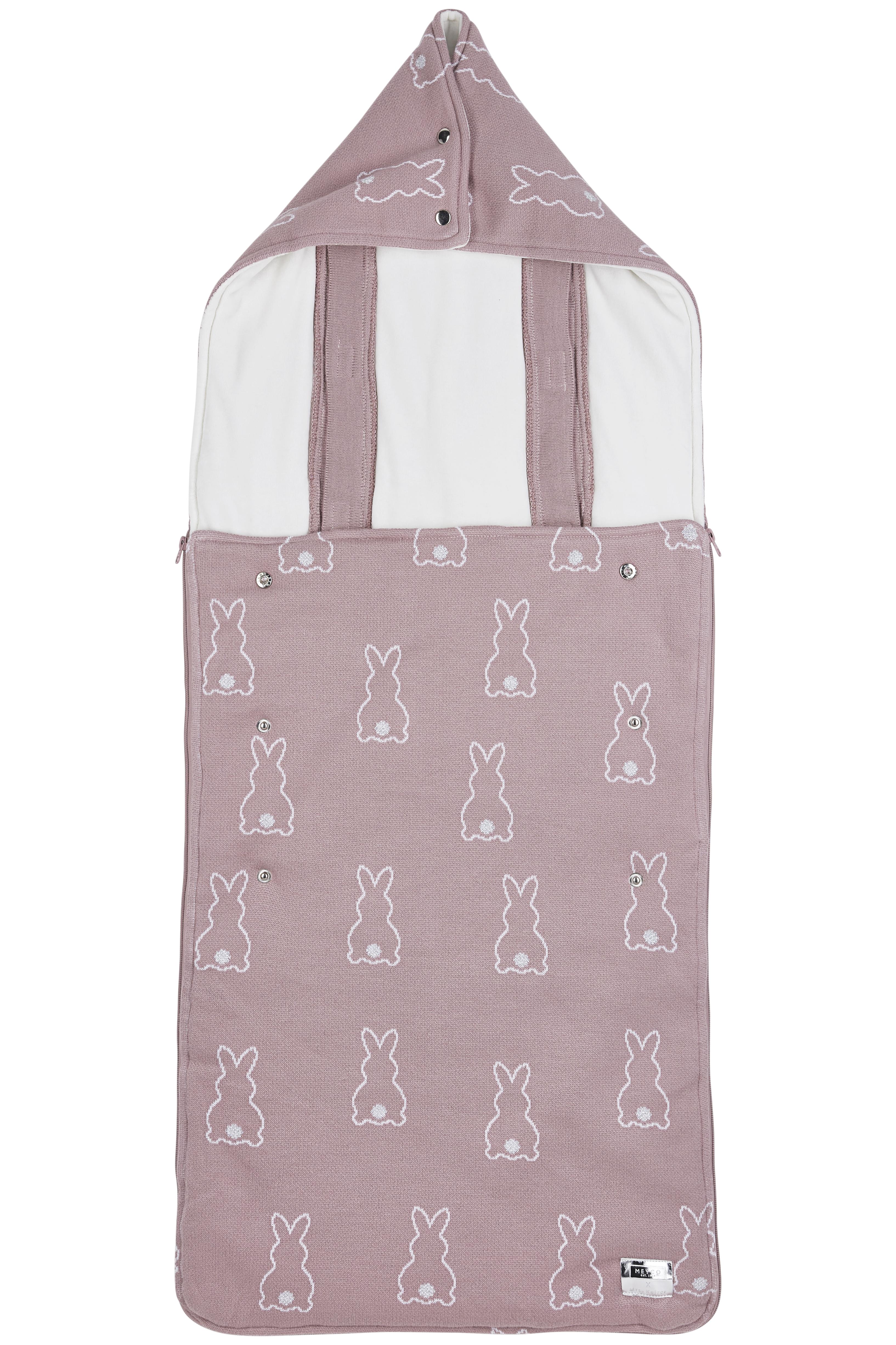 Meyco X Mrs. Keizer Buggy Fußsack Rabbit - Lilac