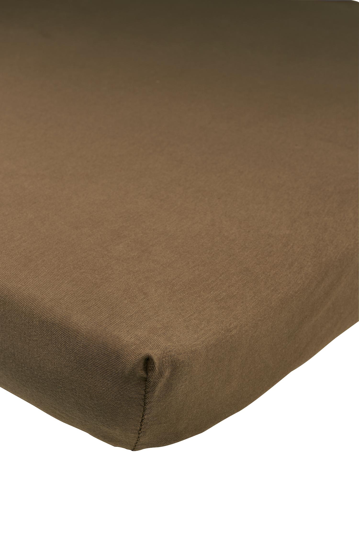 Jersey Spannbettlaken - Chocolate - 75x95cm