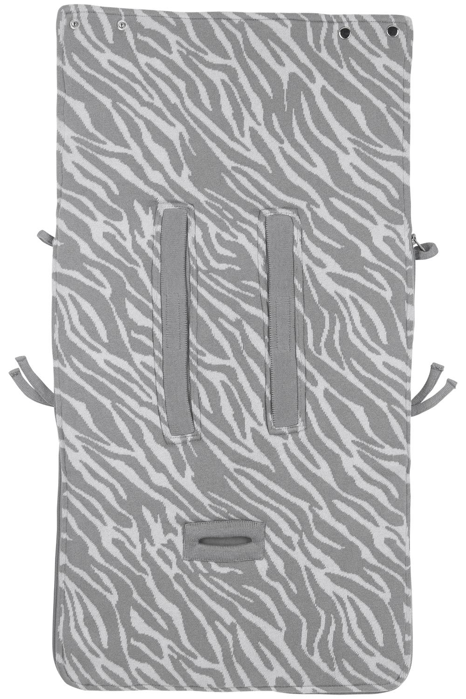 Voetenzak Zebra Grijs