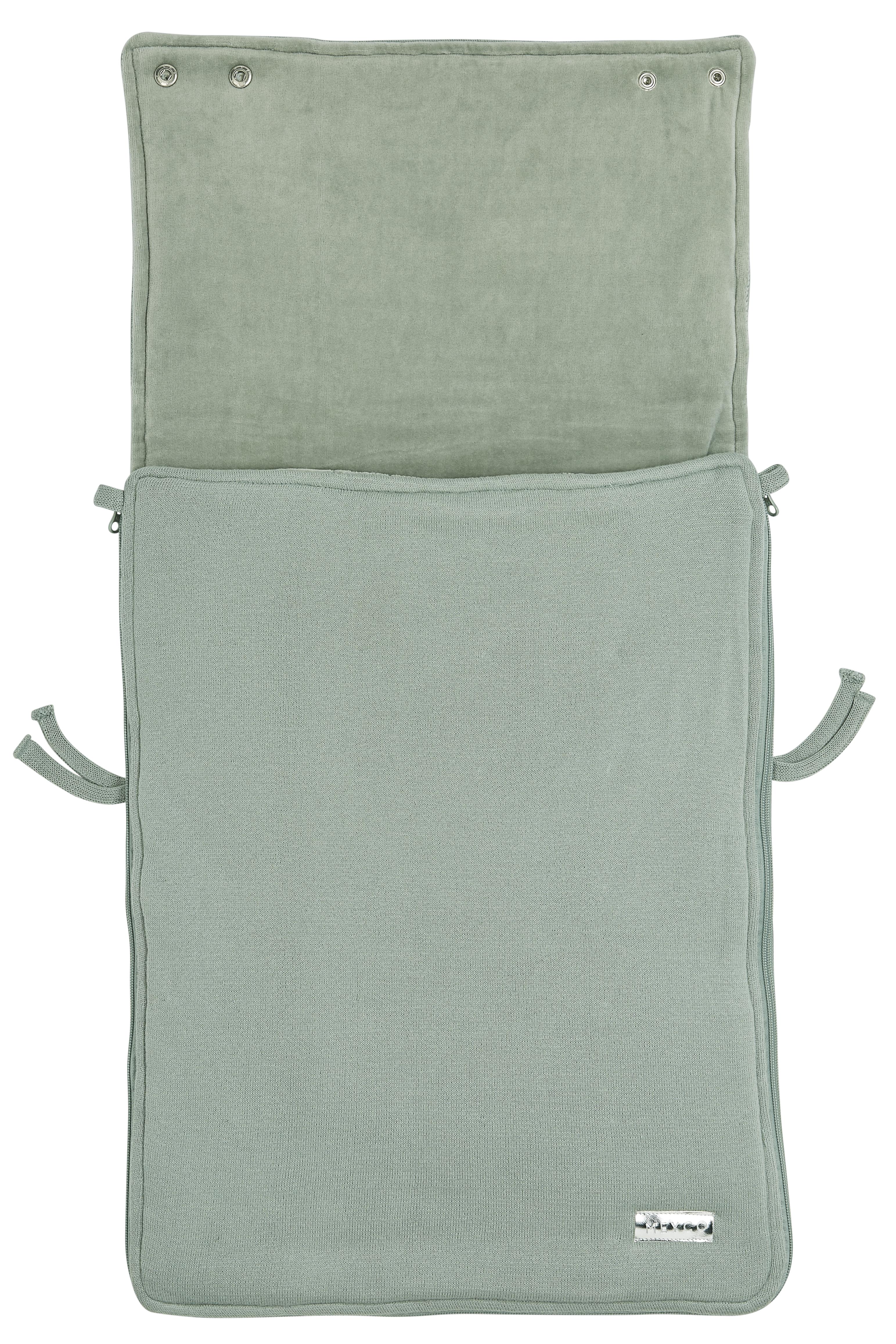 Voetenzak Knit Basic - Stone Green - 40x82cm