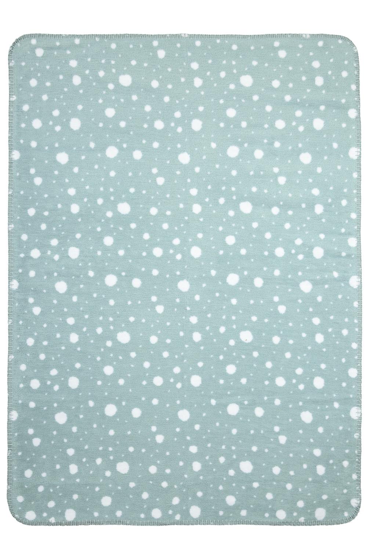 Wiegdeken Dots - Green/Wit - 75x100cm