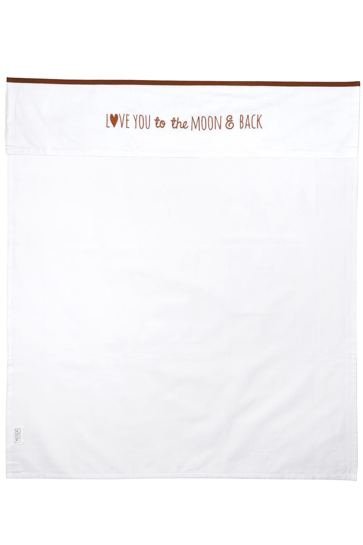 Wieglaken Love You To The Moon & Back - Camel - 75x100cm
