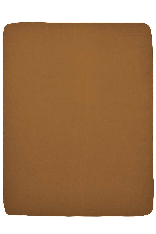 Jersey Hoeslaken Boxmatras - Camel - 75x95cm