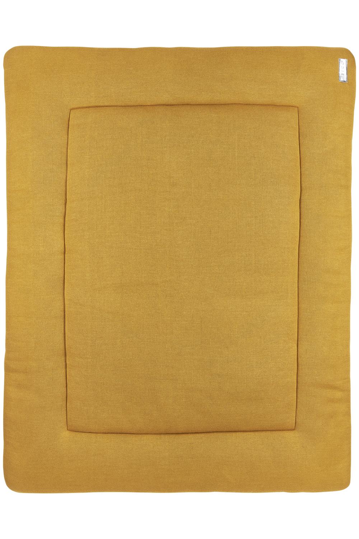 Boxkleed Knit Basic - Honey Gold - 77x97cm