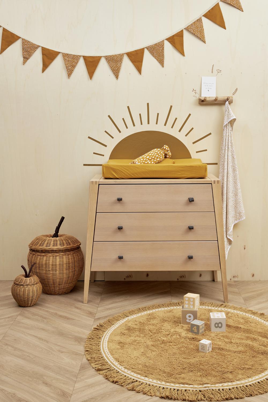 Wickelauflagenbezug Basic Jersey/Cheetah 2-pack - Honey Gold - 50x70cm