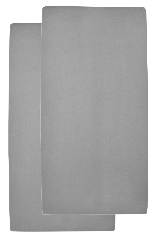 Jersey Hoeslaken 2-Pack - Grijs - 50x90cm